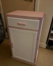 Glitter pink/white storage cupboard