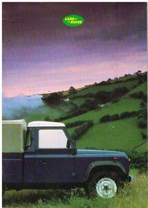 LAND ROVER 90 NINETY 110 ONE-TEN 2.5 3.5 PETROL 2.5 DIESEL '86 UK SALES BROCHURE
