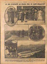 Roi Espagne Alphonse XIII Hippodrome Grand Prix de Saint Sebastien  1916 WWI