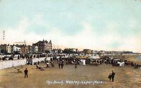 The Beach, Weston-Super-Mare, England, Great Britain, Early Postcard, Unused