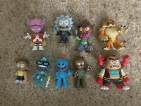 Funko Mystery Mini Rick And Morty Lot Of 9 With Some Rares.