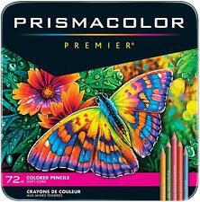 GENUINE Prismacolor Premier Soft Core 72 Coloured Pencils Tin Box Set *NEW*