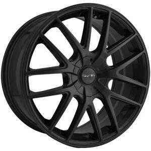 "4-Touren TR60 17x7.5 5x108/5x4.5"" +42mm Matte Black Wheels Rims 17"" Inch"