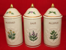 The Lenox Spice Garden Porcelain Mustard Sage Allspice Jar Set of 3 Replacement