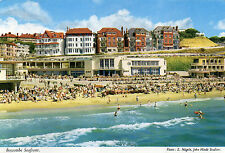 Postcard  Dorset Boscombe  seafront  unposted  Hinde