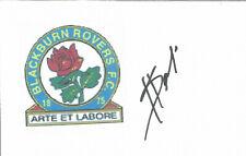 Football Autograph Shefki Kuqi Blackburn Rovers Signed 14 x 9cm Card U2021