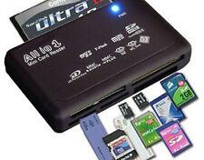 USB Speicherkartenleser SD SDHC Mini Micro M2 MMC XD CF Schwarz