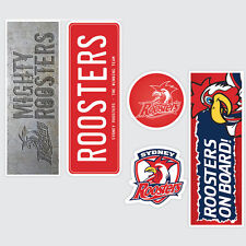 NRL Sydney Roosters Set of 5 UV iTag Bumper Decals / Stickers