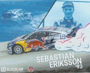 2017 Sebastian Eriksson Red Bull Honda OMSE Civic Global RallyCross GRC postcard