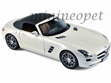 NOREV 183491 2011 MERCEDES BENZ SLS AMG ROADSTER 1/18 DIECAST PEARL WHITE