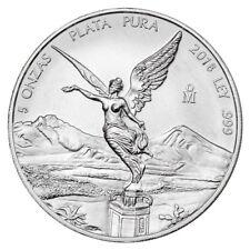 2018-Mo Mexico 5 oz Silver Libertad 5-Onzas Coin GEM BU SKU53069