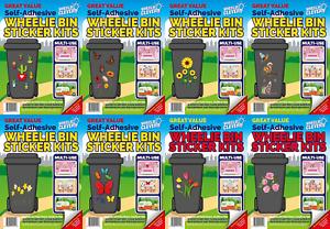 Decorative Multipurpose Wheelie bin, Caravan, Fridge Sticker Kits - Range 1