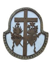 Religiosa Bois Ajouré Croix Sacré Coeur Jésus Immaculé Marie Passion Compassion