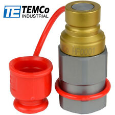 """1/2"""" NPT Male Hydraulic Flat Face Quick Coupler Skid Steer Bobcat ISO 16028"""