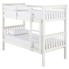 Detachable Bunk Bed - SEPERATES INTO TWO SINGLE BEDS - FREE DELIVERY - WHITE