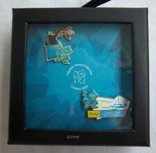 Orig.2er Pin Set Olympische Spiele LONDON 2012 - TURMSPRINGEN / in Box ! RARITÄT