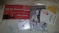 Simon Aronson Card Magic Red See Passover Side Swiped Uspcc Bicycle Gaffs mental