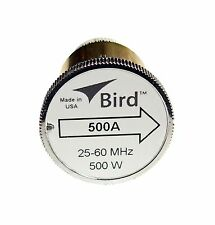 New Bird 500A Plug-in Element 0 to 500 watts 25-60 MHz for Bird 43 Wattmeters