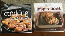 Pampered Chef LOT #1 Cookbooks COOKING FOR TWO & MORE Appetizer Dinner Desserts