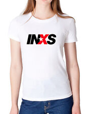 INXS Women's Ladies Girls T-shirt Top High Quality Cotton Crew Neck Gildan M