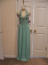 NWT $299 pale green beaded bridesmaid Stage Formal Ocassion long Gown size9/10