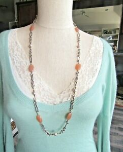 """David Yurman Sterling Silver & 18K Carved Chalcedony, &  Pearls 34"""" Necklace"""