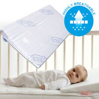 BABY WEDGE ANTI REFLUX COLIC PILLOW CUSHION FOR COT OR COT BED 60x37 30x37