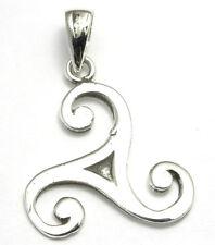 Pendentif en Argent 925 Bijoux collier Triskell Celte Celtique Bretagne triskel