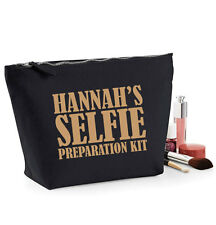 Selfie Preparation Kit MakeUp Bag,Cosmetic Case,Wash Bag,19x18cm,Personalised