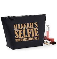 Selfie Preparation Kit MakeUp Bag,Cosmetic Case,Wash Bag,19x18cm,Personalised