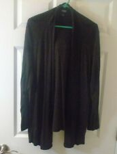 Eileen Fisher, brown, open cardigan, size 2XL