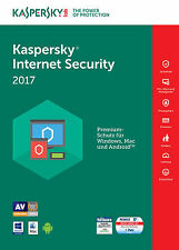 KASPERSKY INTERNET SECURITY 2017 5 PC / Geräte 2 Jahre Vollversion