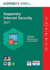 KASPERSKY INTERNET SECURITY 2017 5 PC / Geräte 2 Jahre Vollversion