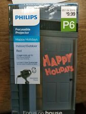 Philips HAPPY HOLIDAYS Focusable Projector Image Up To 6.5' L x 3.5' H Red Image
