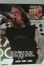 DROWNING POOL Jason Jones Full Page Pinup magazine clipping No Fear Clothing '04