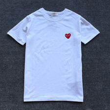 New Comme Des Garcons CDG Play Little Red Heart Cotton Short Sleeve T-shirts