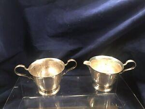 Lunt Sterling Silver Sugar & Cream Pitcher 14 (202 GRAMS) No Mono