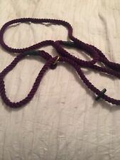 Dog Rope Slip Lead for Safety Metal Slider Prevents Choking