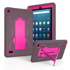 """Hybrid Shockproof Kickstand Hard Case Cover For New 2017 Amazon Fire 7 7"""" Tablet"""
