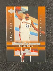 LeBron James 2003-04 Upper Deck Rookie Exclusives Star Rookie Card #1 Lakers