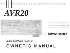 Harman Kardon AVR20 Receiver Owners Manual