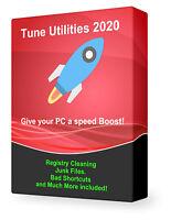 Tune Utilities 2020 Speed Up My PC Registry Cleaner Virus Removal Disk Clean DVD