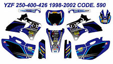 590 YAMAHA YZF 250-400-426 1998-2002 Autocollants Déco Graphic Sticker Decal Kit