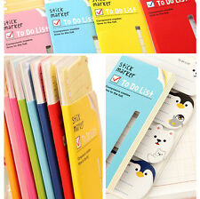 Lovely Book Notes Cartoon Animals Sticker Post-It Bookmark Index Tab Sticky Note