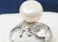 NATURAL SOUTH SEA GENUINE WHITE PEARL RING SIZE5 TO SIZE11 CHOOSE YOUR SIZE