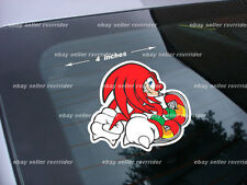 knuckles decal sticker for gaming device or vehicle
