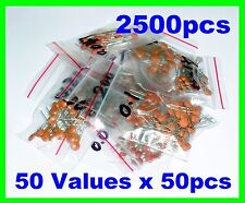 2500pcs Ceramic Capacitor Assortment 50pcs x 50 values  B
