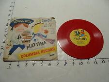 Vintage Childrens Record--SCHOOL DAYS DAISY BELL