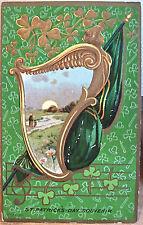 Postcard ST PATRICKS DAY SOUVENIR Irish Harp Shamrocks Series 551 Baltimore 1911