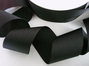 10 yards Solid Grosgrain 2 inch Wide High Quality Ribbon US Seller GR20-17 Black
